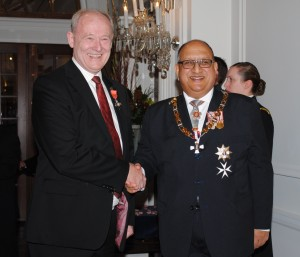 Laurence Zwimpfer MNZMwith Governor General, The Rt Hon Sir Anand Satyanand