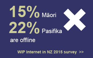 15% Maori, 22% of Pacifica are offline. Internet in NZ 2015 Survey.