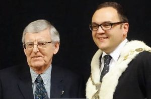 e-Learning Chair Graham Kelly and Porirua Mayor Nick Leggett
