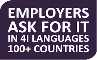 Employers ask for it in 41 languages, 100+ countries