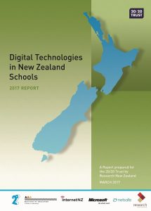 Digital Technologies in New Zealand Schools 2017 cover