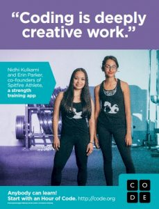Coding is deeply creative work, say Nidhi Kulkarni and Erin Parker, co-founders of Spitfire Athlete, a strength training app.
