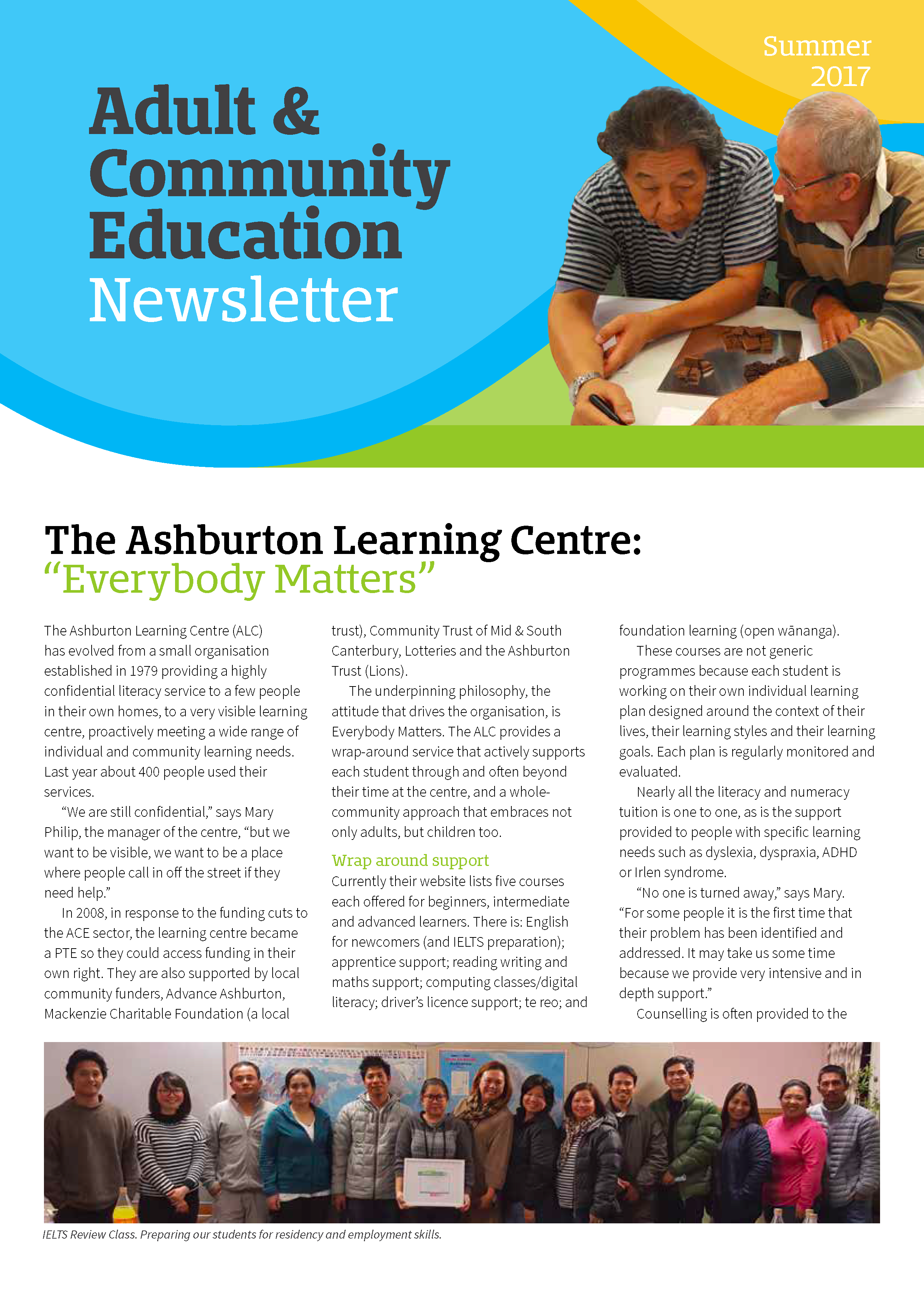 ACE Aotearoa newsletter cover