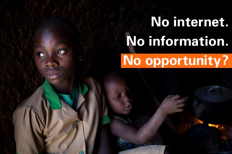 No Internet, no information, no opportunity