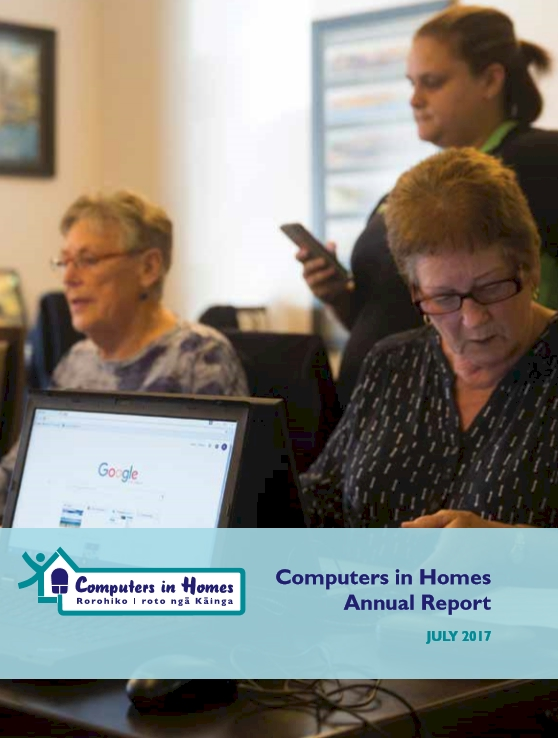 Computers in Homes Annual Report 2016-17 cover
