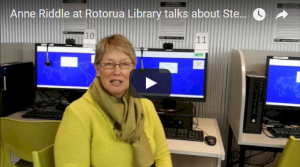YouTube video: Anne Riddle, from Rotorua District Library, talks about her experiences with Stepping UP and 20/20